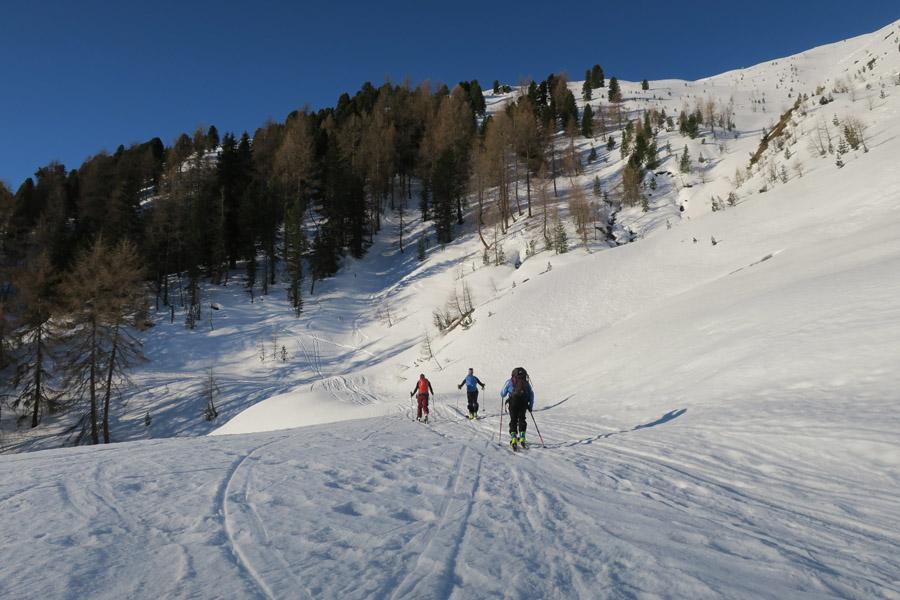 Skitour Rofelewand Pitztal Aufstieg