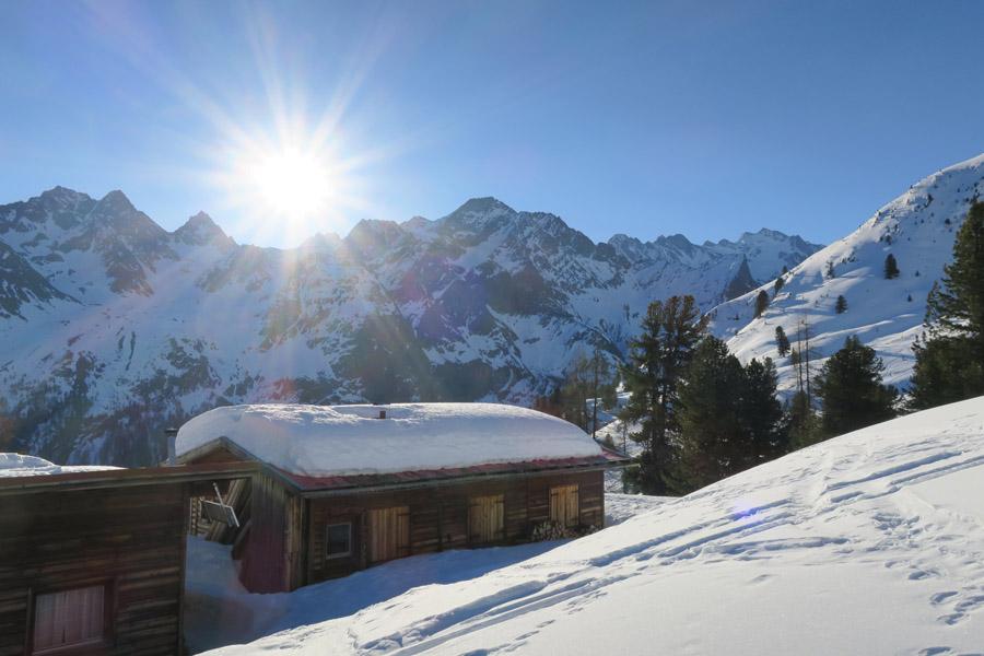 Skitour Rofelewand Pitztal Hütten