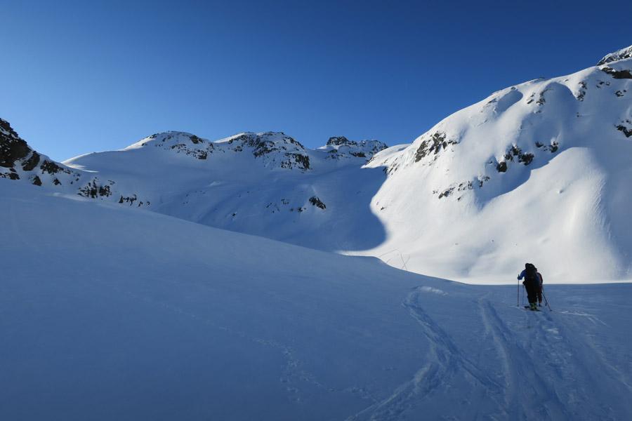 Skitour Rofelewand Pitztal Steilstufe