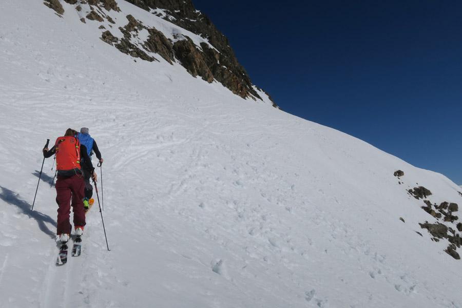 Skitour Rofelewand Pitztal steiler Abschnitt