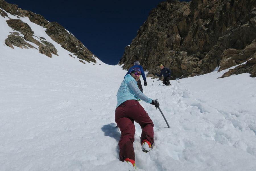 Skitour Rofelewand Pitztal - Eisrinne