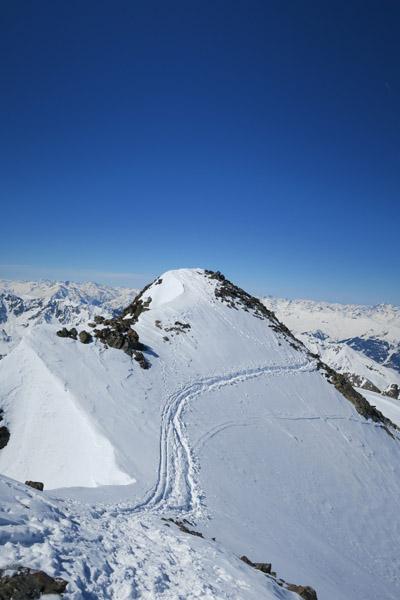 Skitour Rofelewand Pitztal - letzte Meter zm Gipfel
