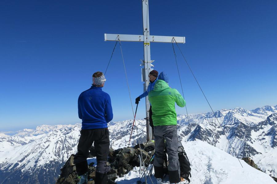 Skitour Rofelewand Pitztal - am Gipfel