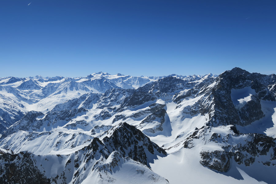 Skitour Rofelewand Pitztal - Gipfelpanorama