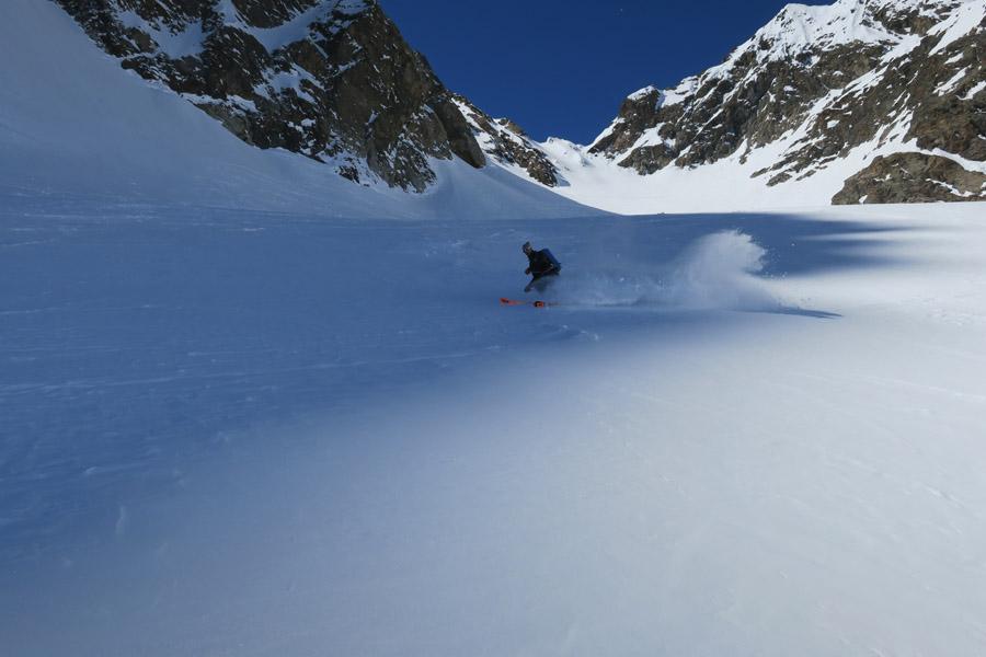Skitour Rofelewand Pitztal Abfahrt